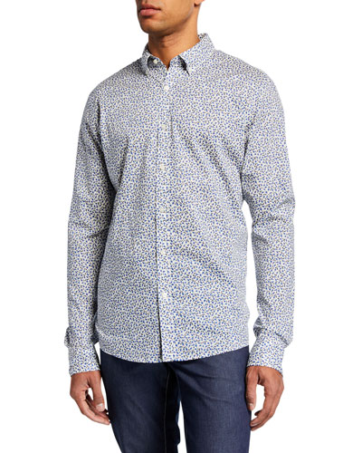Men's Floral-Print Slim Sport Shirt