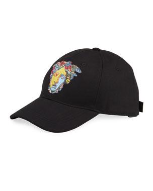 7bbbafac Versace Men's Medusa Head Embroidery Baseball Hat