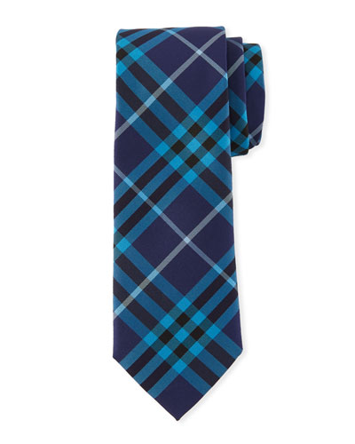 Slim-Cut Check Silk Tie