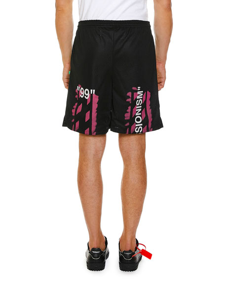 Off-White Men's Stencil Mesh Shorts