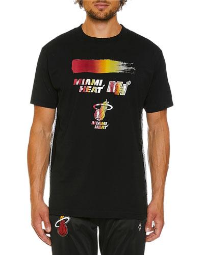 Men's Miami Heat Graphic Multicolor T-Shirt