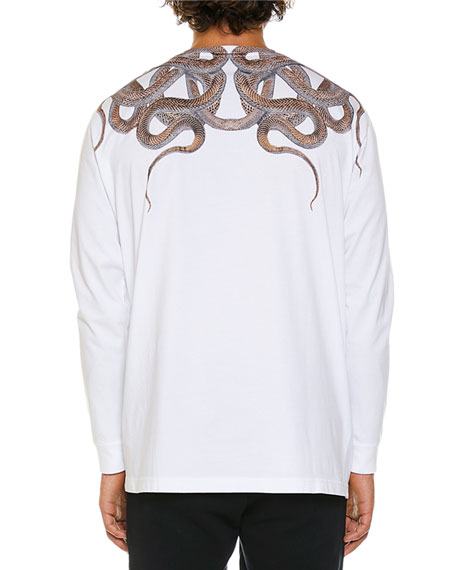 Marcelo Burlon Men's Snakes Graphic Long-Sleeve T-Shirt