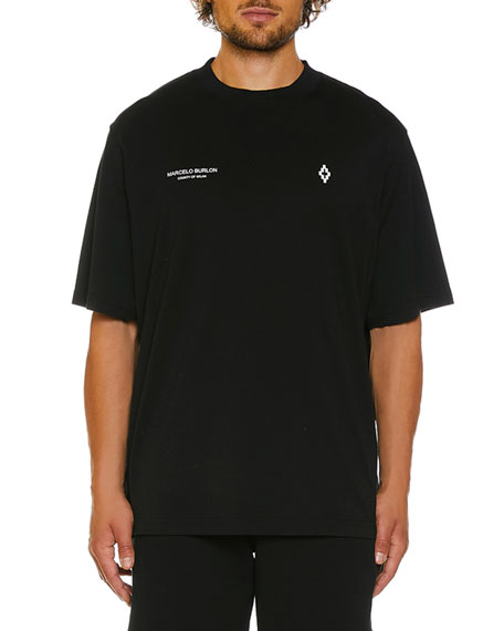 Marcelo Burlon Men's Punch Graphic Short-Sleeve T-Shirt