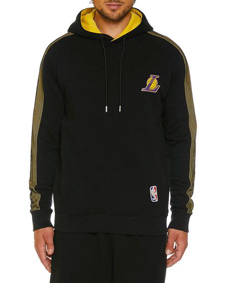 Marcelo Burlon Men's Los Angeles Lakers Mesh Hoodie
