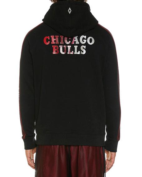 Marcelo Burlon Men's Chicago Bulls Graphic Mesh Hoodie
