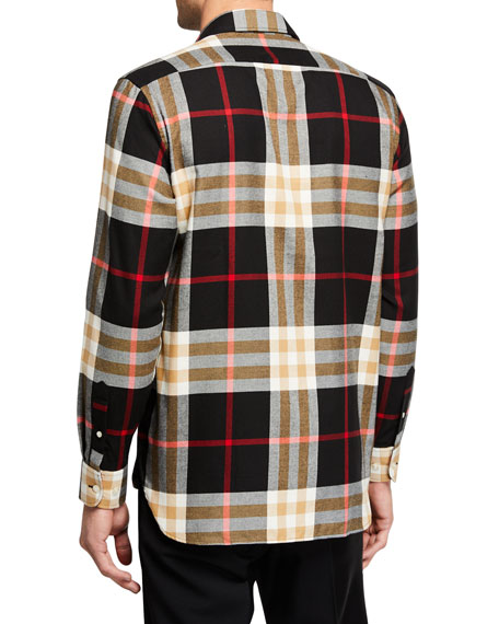 Burberry Men's Richard Check Long-Sleeve Sport Shirt