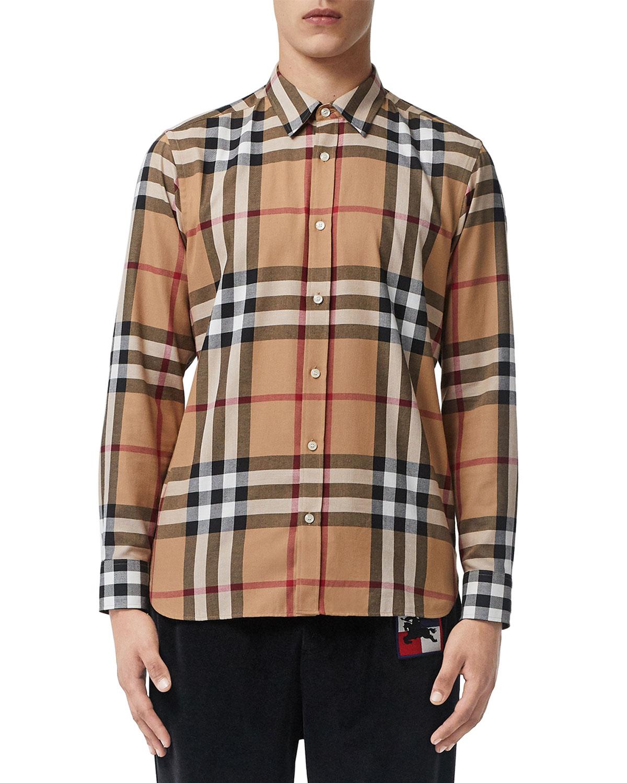 def862473 Burberry Men's Richard Plaid Shirt