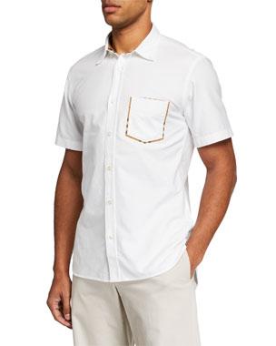 5ba6db494078 Burberry Men s Harry Short-Sleeve Sport Shirt