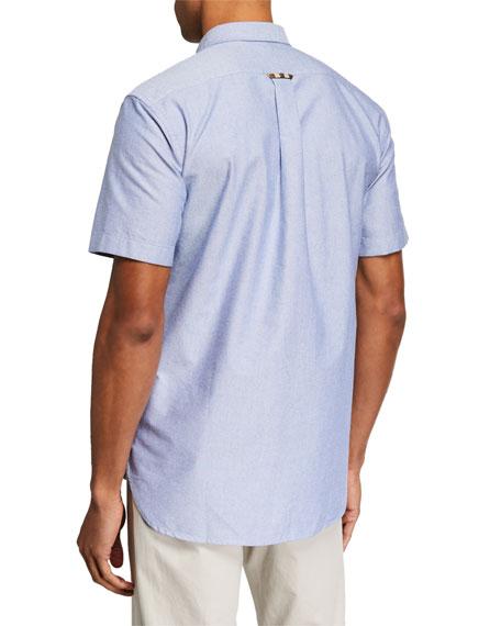 Burberry Men's Harry Short-Sleeve Sport Shirt, Blue