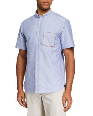 aa9143f2430d Burberry Men s Harry Short-Sleeve Sport Shirt, ...