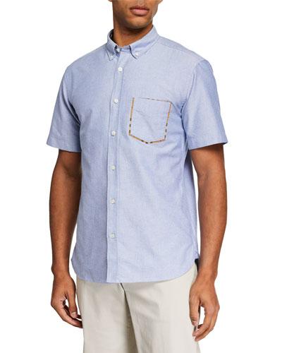 Men's Harry Short-Sleeve Sport Shirt  Blue