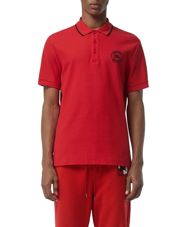 24eb1fb4e71 Burberry Men s Moreton Contrast-Tip Polo Shirt