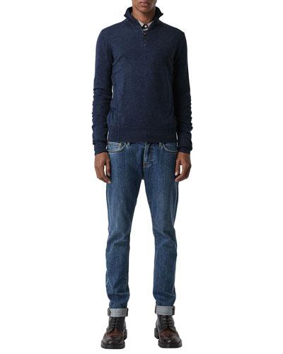 Men's Connor Wool  1/4-Zip Sweater