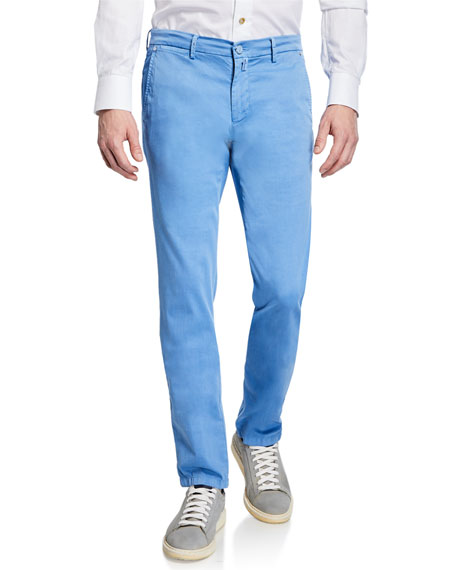 Kiton Pants MEN'S SILK-BLEND STRAIGHT-LEG PANTS