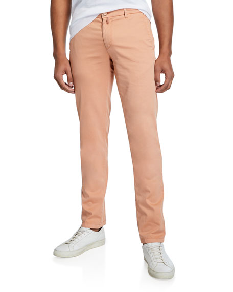 Kiton Pants MEN'S COTTON/SILK-STRETCH STRAIGHT-LEG PANTS