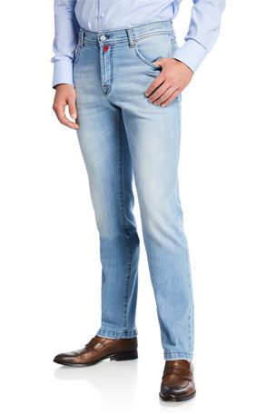 Kiton Men's Five-Pocket Denim Jeans