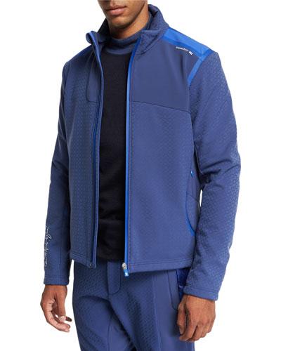 Men's Two-Tone Zip Jacket