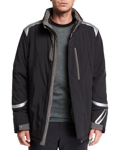 Men's Down Ski Jacket w/ Removable Hood