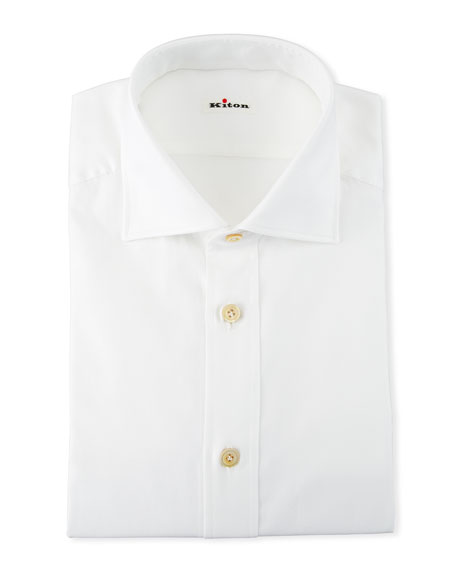 Kiton Cottons MEN'S COTTON OXFORD DRESS SHIRT
