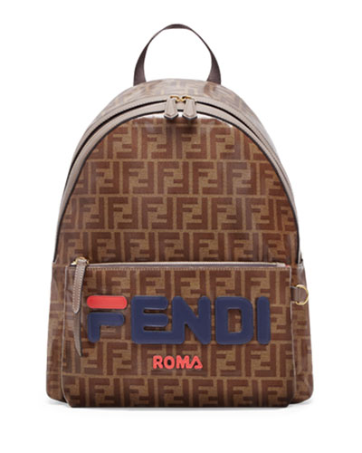 Men's Fendi Mania Coated Canvas Backpack