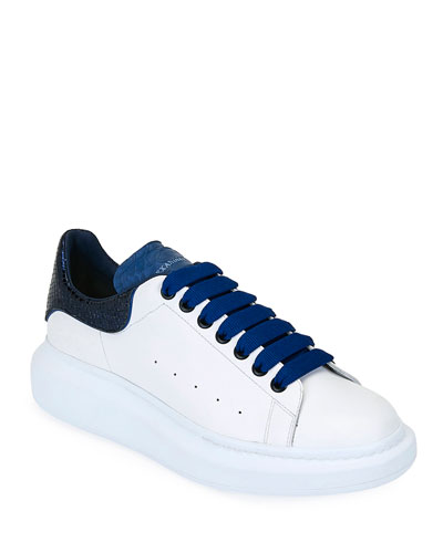 Men's Oversized Colorblock Leather Low-Top Sneakers