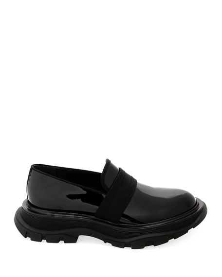ALEXANDER MCQUEEN Leathers MEN'S LEATHER THICK RUBBER SOLE DRESS SHOE