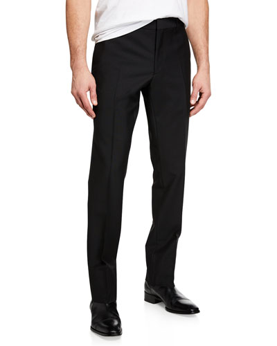 Men's Marylebone Wool-Mohair Trousers