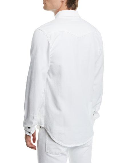 CALVIN KLEIN 205W39NYC Men's Solid Denim Snap-Front Shirt