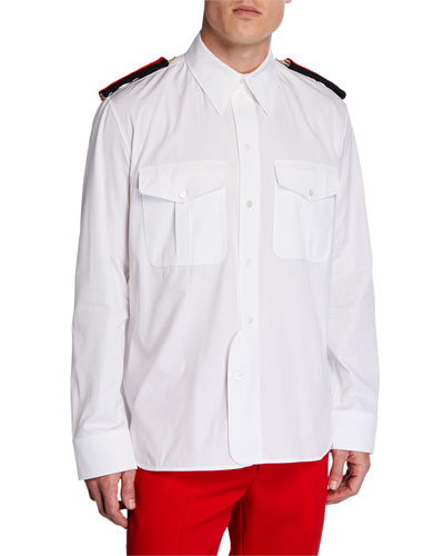 Men's Flap-Pocket Shirt with Two-Tone Epaulets