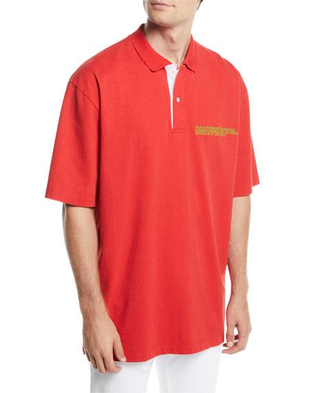 CALVIN KLEIN 205W39NYC Men's Oversized Polo Shirt with
