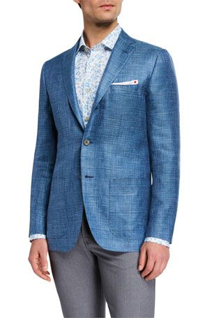 Kiton Men's Textured Cashmere Three-Button Jacket