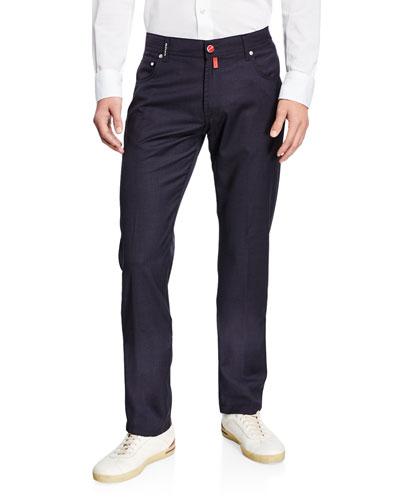 Men's 5-Pocket Wool Trousers