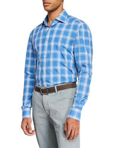 Men's Large Plaid Sport Shirt
