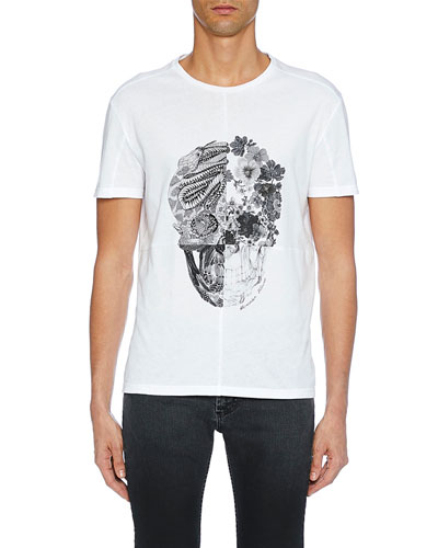 Men's Skull Graphic Cotton T-Shirt