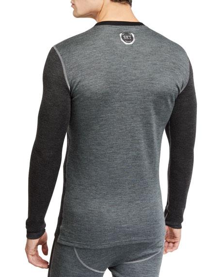 Stefano Ricci Men's Contrast-Topstitching Ski Shirt