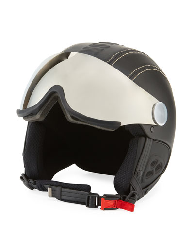 Classic Eagle Ski Helmet w/ Attached Mirrored Visor