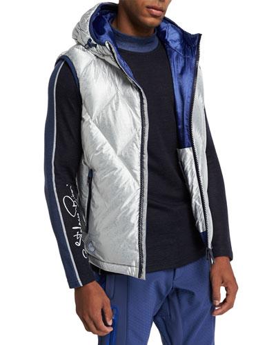 Men's Hooded Down Ski Vest