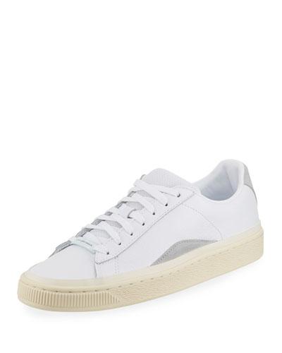 x HAN KJOBENHAVN Men's Basket Low-Top Leather Sneakers