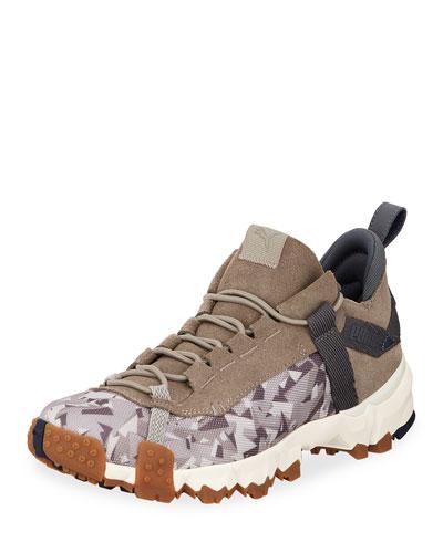 Men's Trail Fox Suede-Trim Running Sneakers