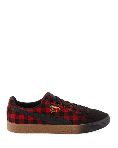 142b32d28e Men'S Clyde Buffalo Check Platform Low-Top Sneakers in Red