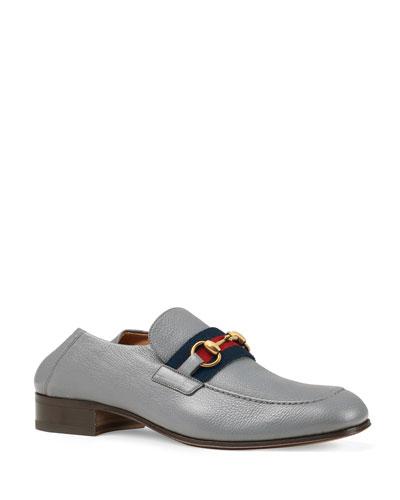 Men's Leather Horsebit Fold-Down Loafers