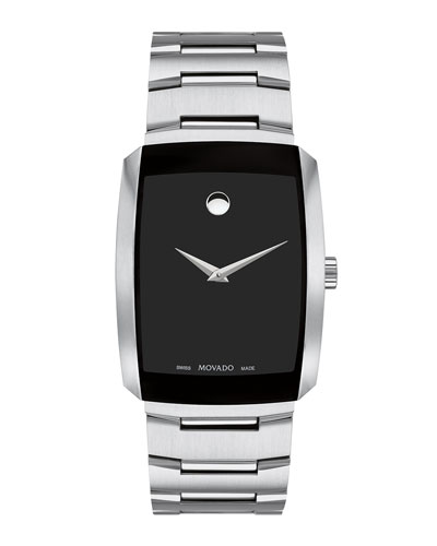 Men's Eliro Square Modern Watch  Silver