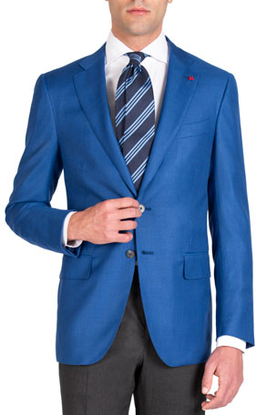 Isaia Men's Textured 130s Blazer