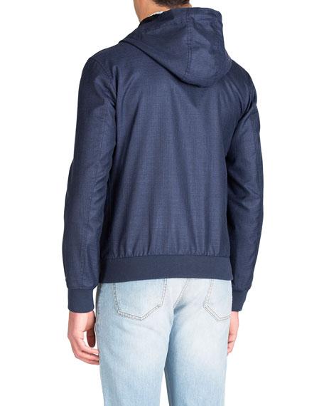 Isaia Men's Techno-Wool Zip-Front Jacket