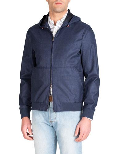 Men's Techno-Wool Zip-Front Jacket