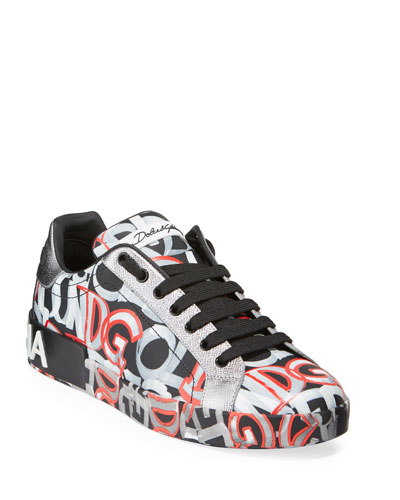 Men's Printed Portofino Sneakers