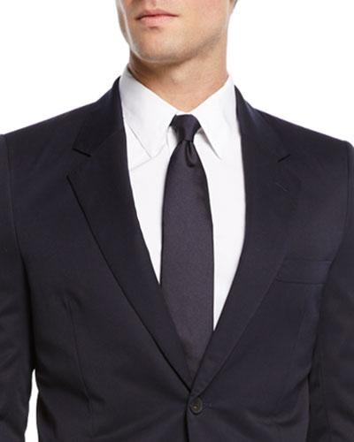 Alain Solid Silk Tie