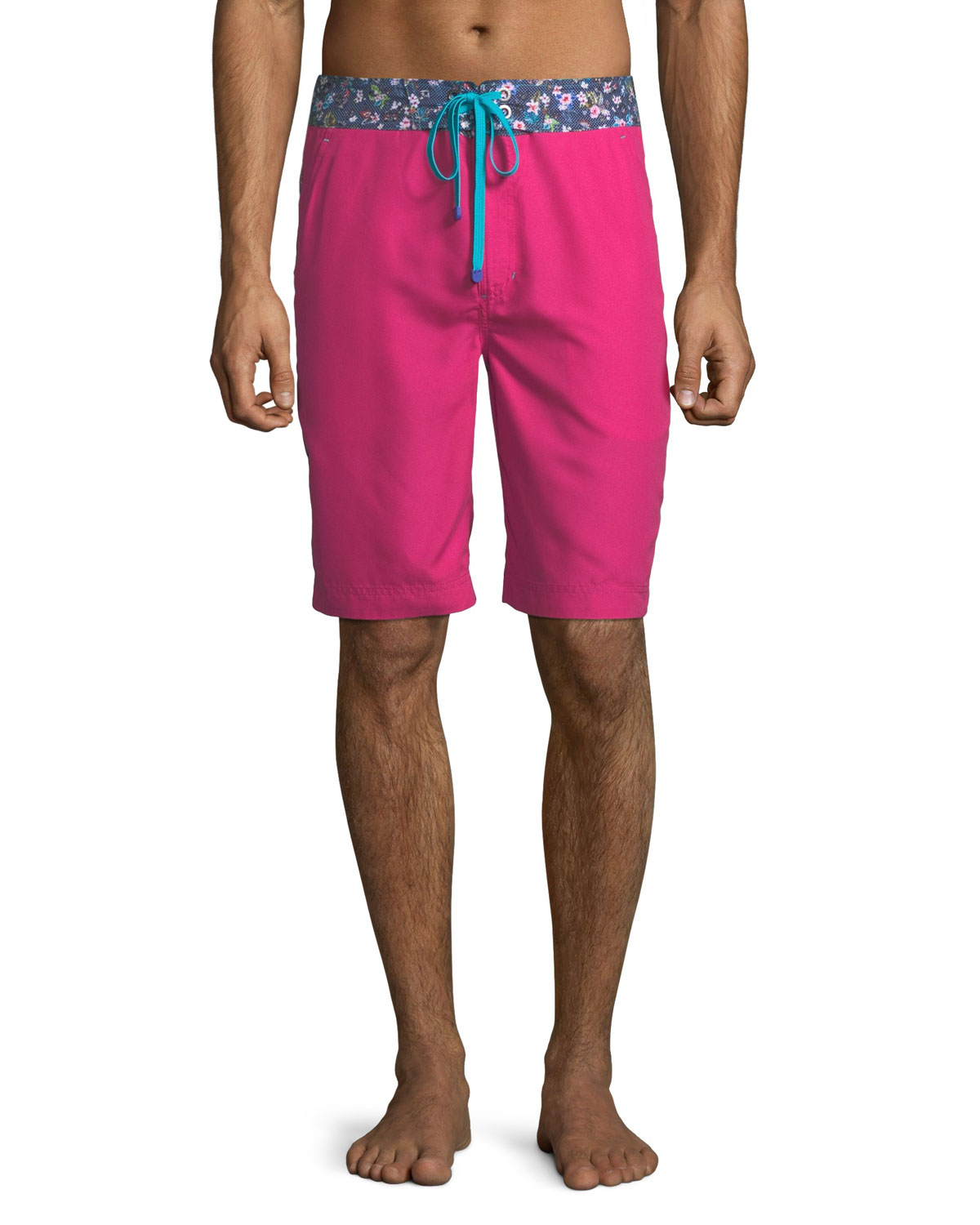 31f726f598 Robert Graham Dos Rios Graphic-Trim Swim Trunks with Wet/Dry Color-Change