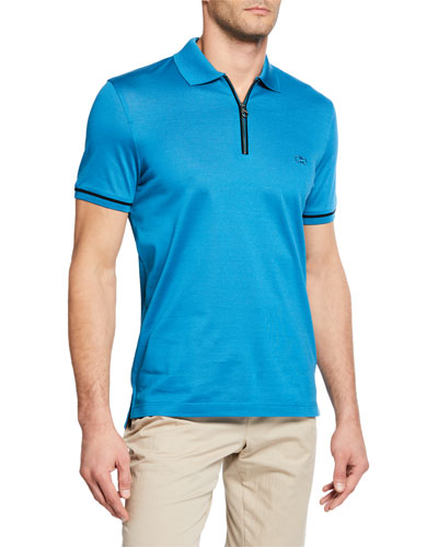 Men's Half-Zip Polo Shirt