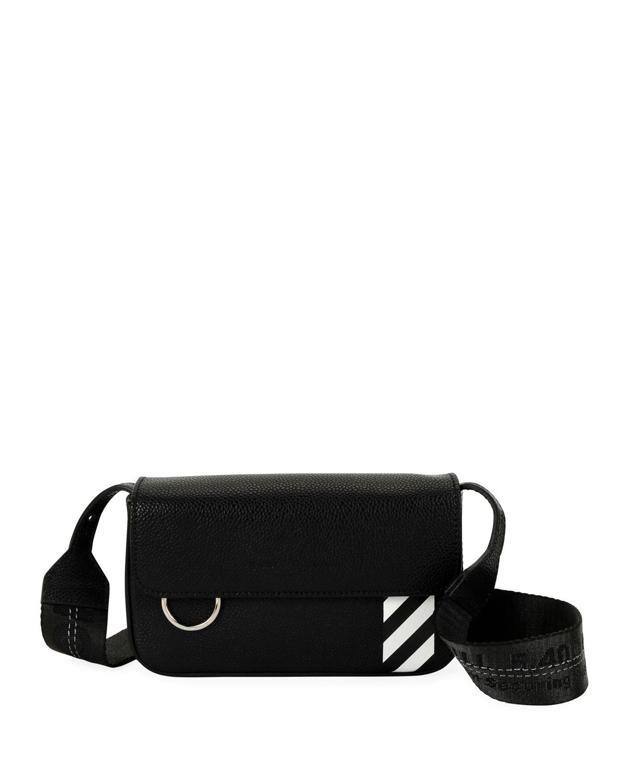 59e49163be3b Off-White Men s Diagonal-Panel Flap Crossbody Bag